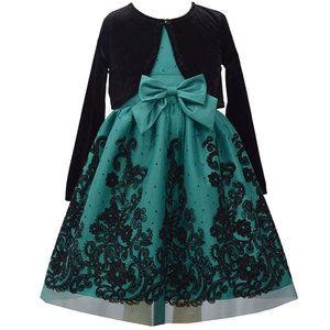 BONNIE JEAN Girls Party Dress and Cardigan #ZB33